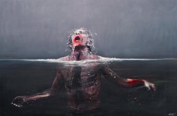 Olivier de Sagazan pinturas