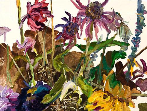 pinturas sobre flores coloridas