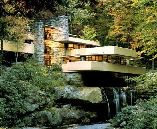 Casa Kaufmann arquitectura orgánica de Frank Lloyd Wright