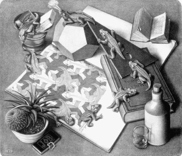 Cultura Escher reptiles