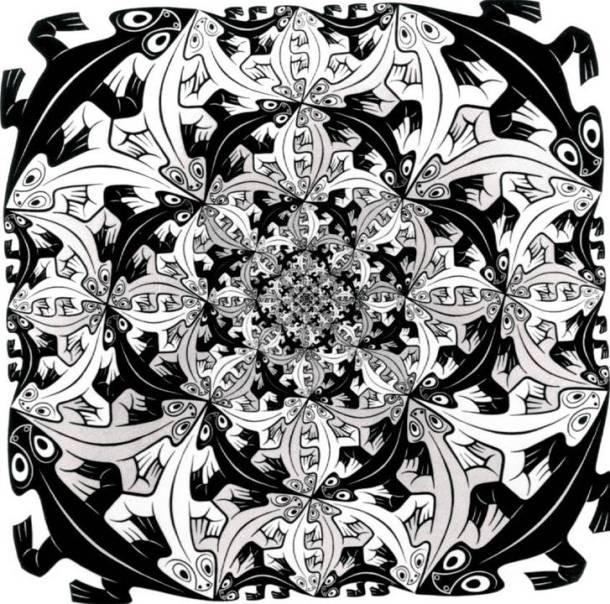 Cultura Escher smaller and smaller