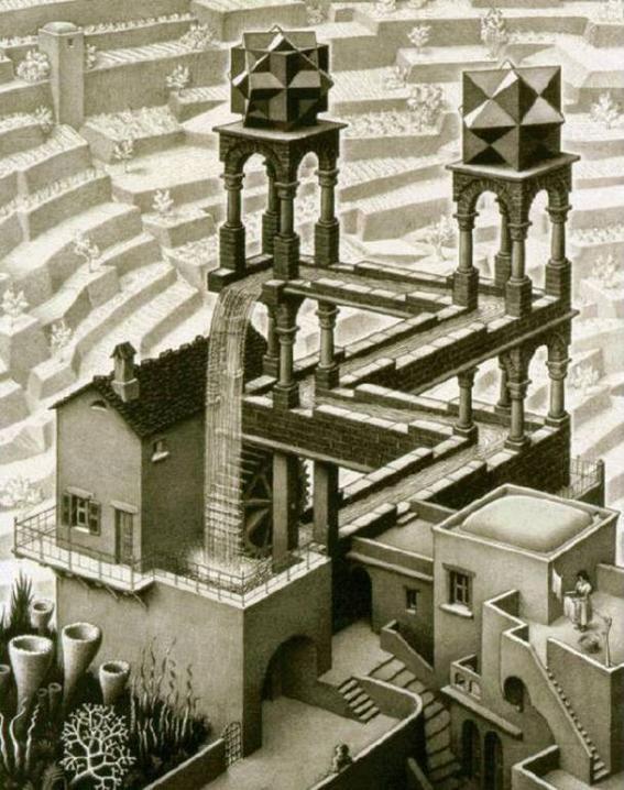 Cultura Escher waterfall