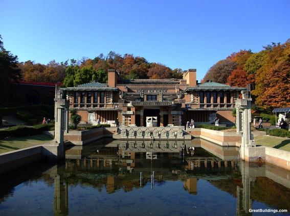Imperial Hotel de Tokio arquitectura orgánica de Frank Lloyd Wright