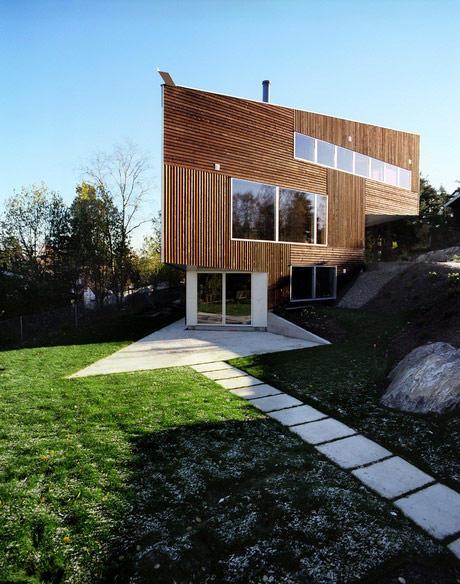Top 15 arquitectura en armon a con la naturaleza dise o - Norwegian wood houses ...