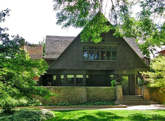 casas de pradera arquitectura orgánica de Frank Lloyd Wright