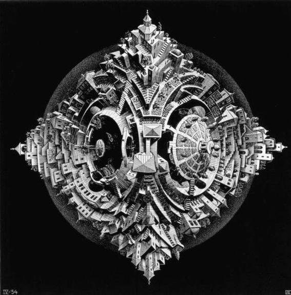 cultura Escher tetrahedral