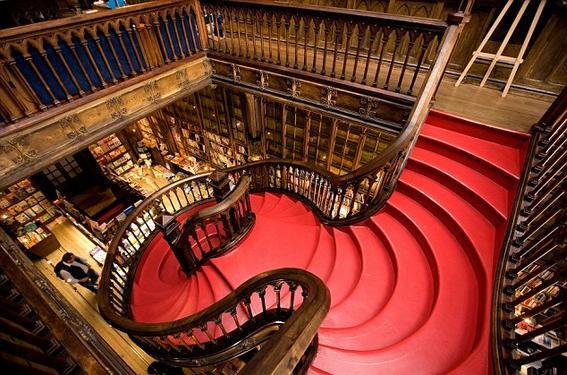 Portugal, Norte region, Porto, Lello Library stair