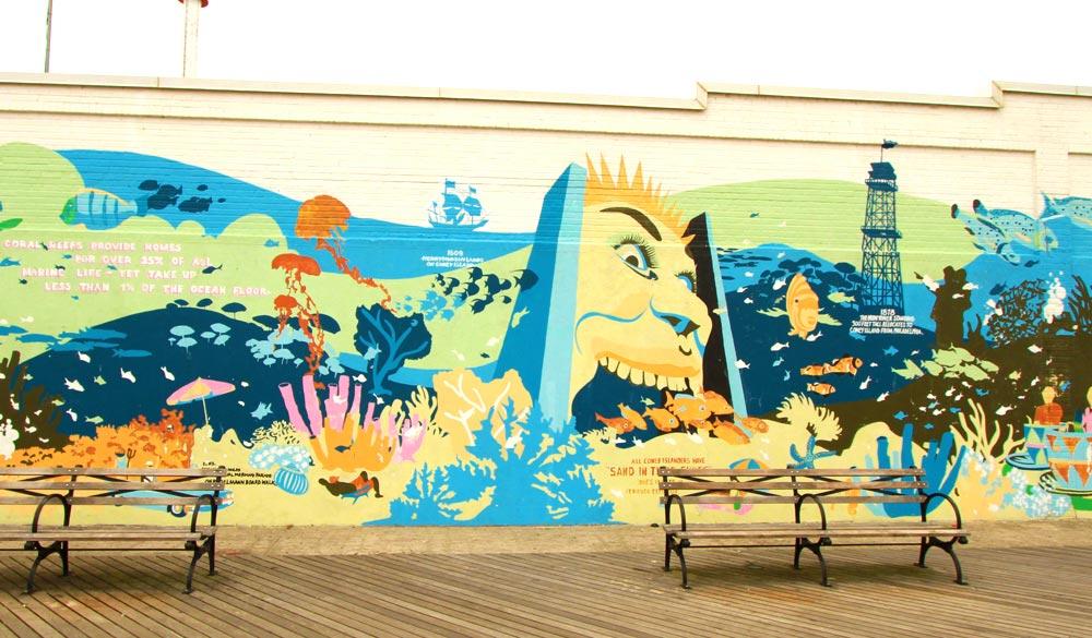 Mapa de arte urbano en nueva york arte for Coney island mural