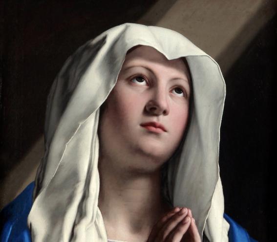 Vergine-in-preghiera-de-Giovan-Battista-Salvi-1605-1685-recorte