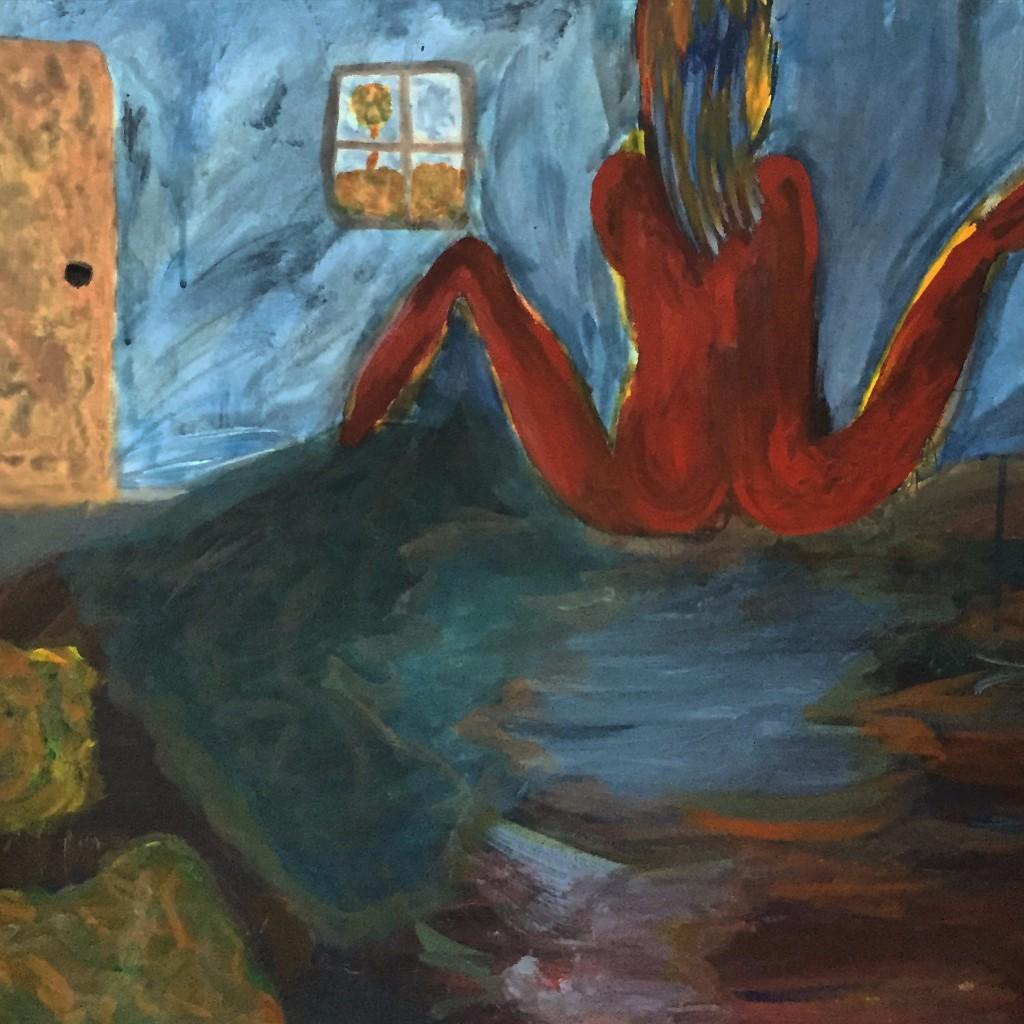 Pintura de Anna y Jorge.
