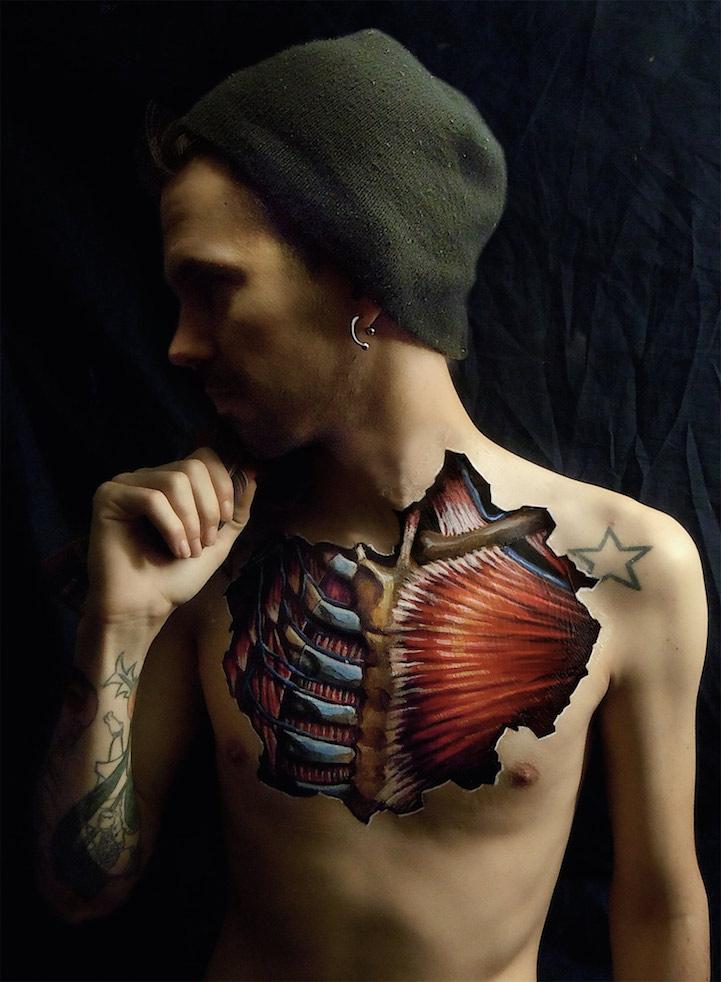 Anatomía hiperrealista del cuerpo humano - Diseño