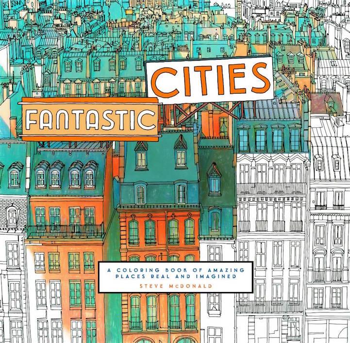 Fantastic Cities: un libro para colorear dedicado a los adultos - Diseño