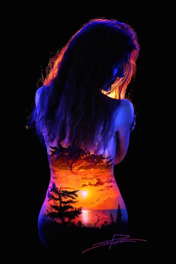 body-paint-art-black-light-11