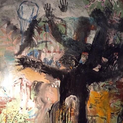 escritura : mural de borrachera, quinto piso.