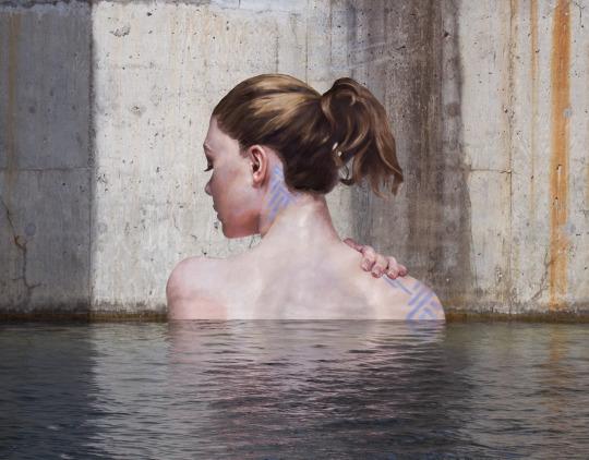 arte urbano a nivel del mar