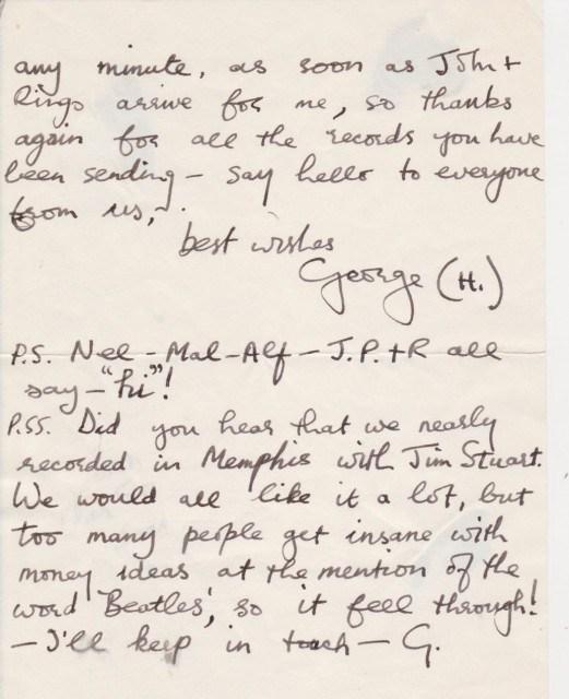 carta de George Harrison
