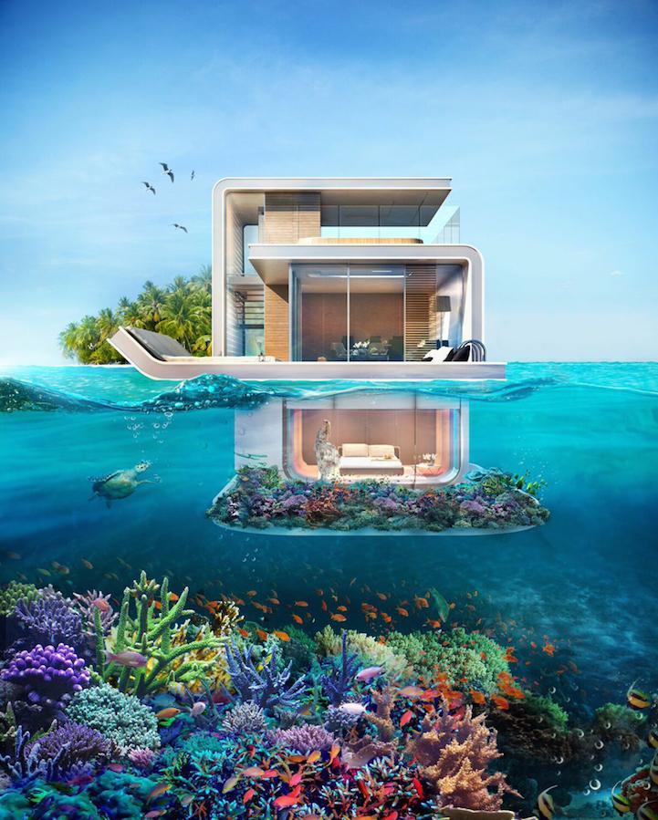 La casa en el mar con la mejor vista submarina dise o - Casas en el mar ...