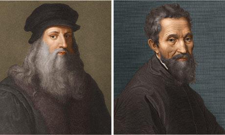 Da Vinci y Miguel Ángel Buonarroti
