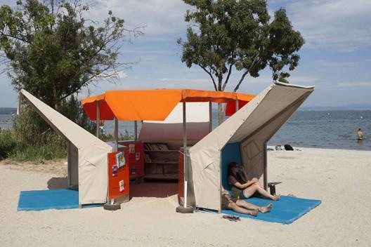 Biblioteca de Plage aire libre