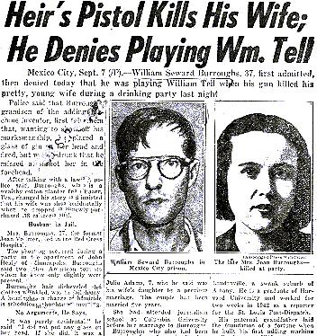 Burroughs mata a su esposa