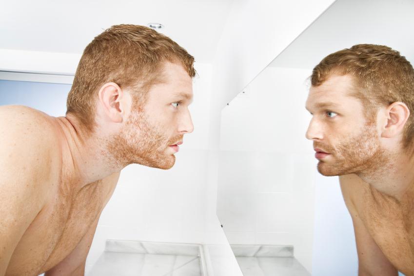 Mirando espejo
