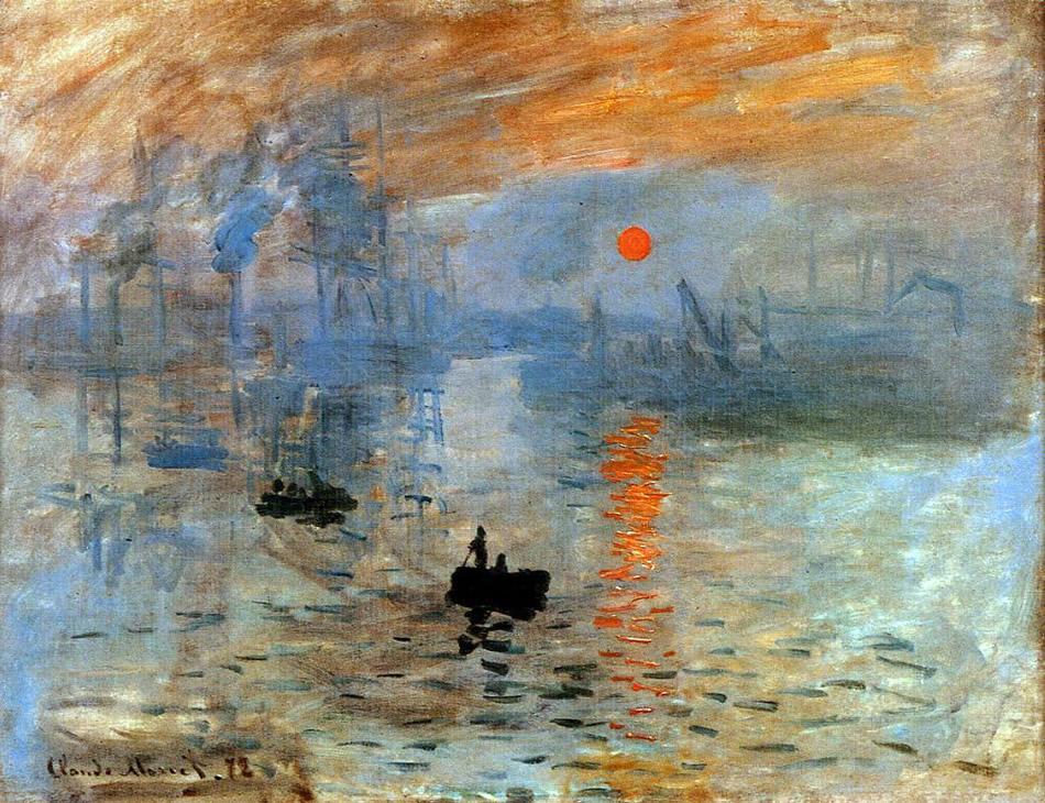 Monet pintando en su jardín
