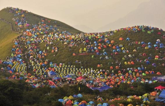 Campamento masivo