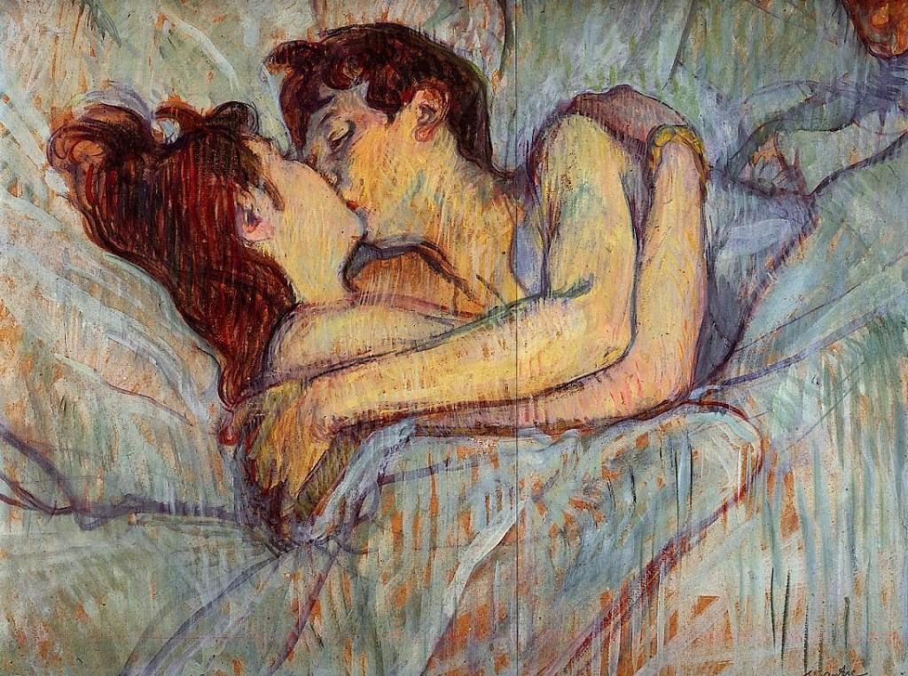El beso en la cama lautrec