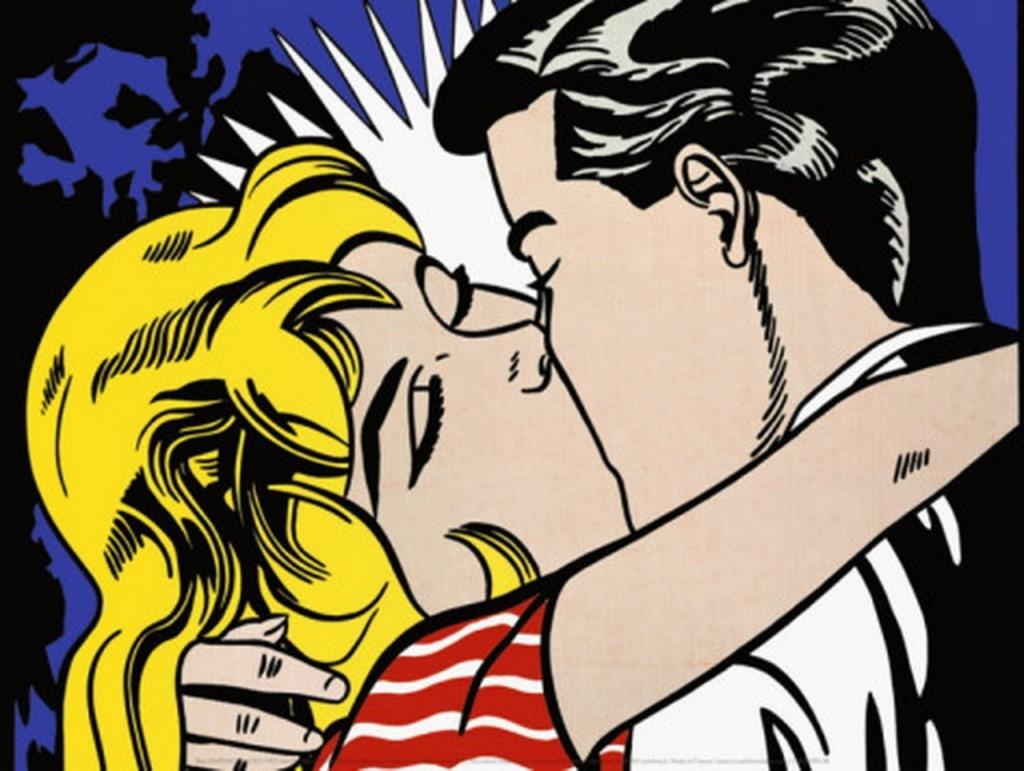 Roy lichtenstein kiss ii