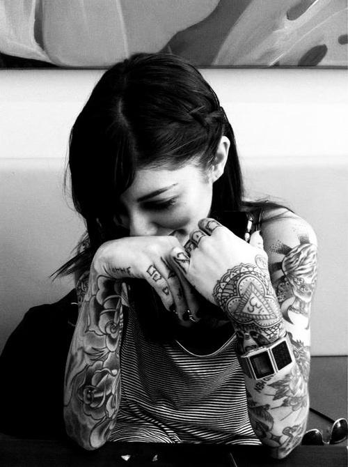 vintage tattoos smirk