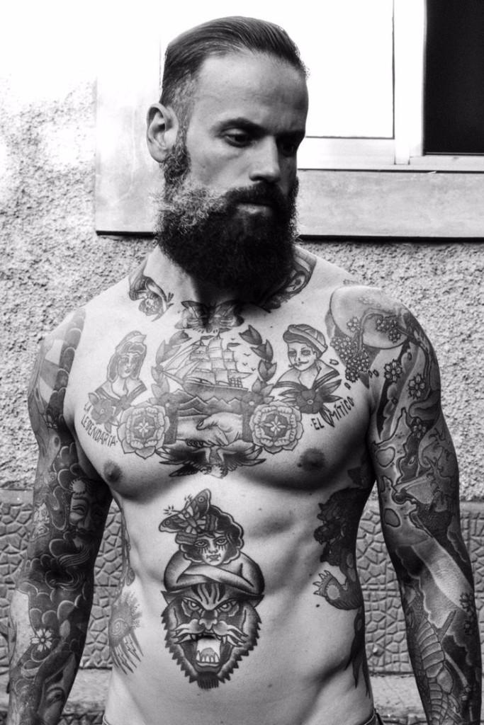 vintage tattoos tough guy