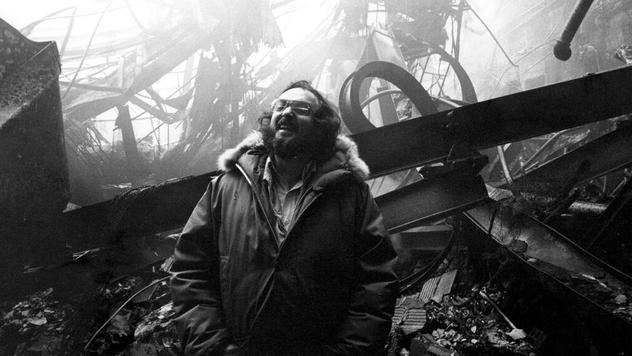 Kubrick laughing