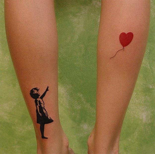 banksy tatuaje