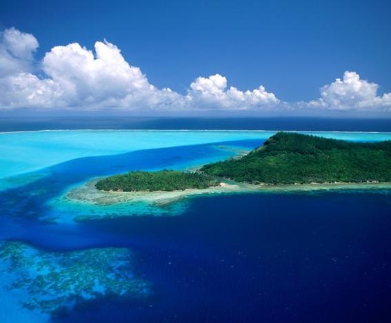 isla bora bora verde