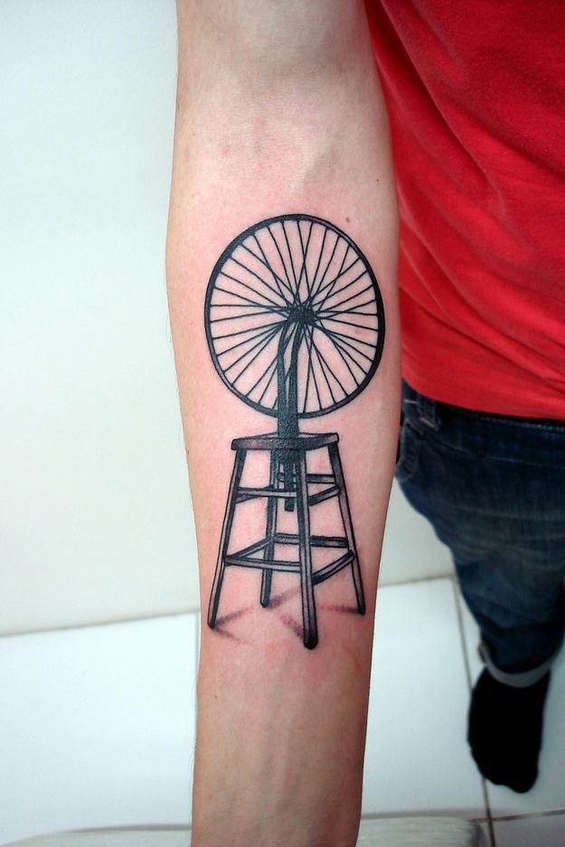 marcel duchamp tattoo