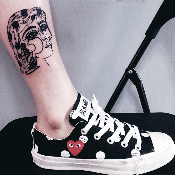 minimalist picasso tattoos