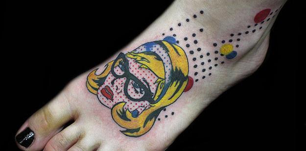roy lichtenstein tattoo