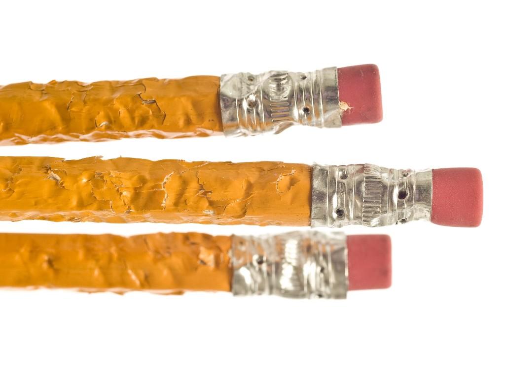 Chewed pencils