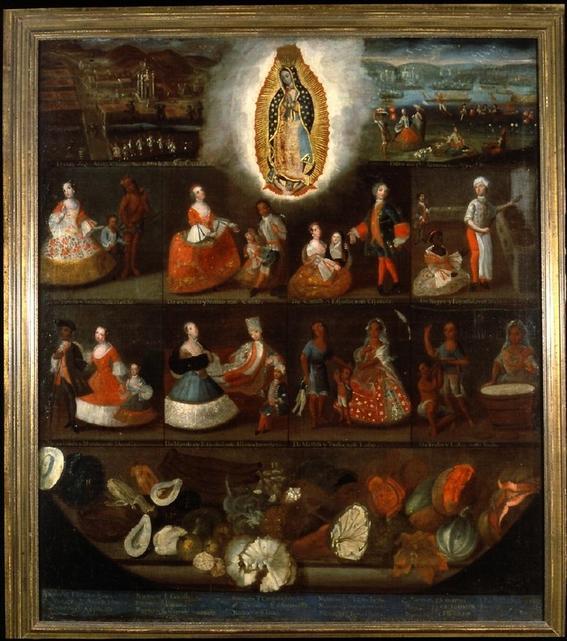 Luis de Mena, Serie de Castas, c.1750, Museo de América, Madrid