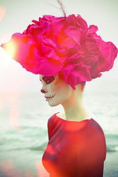 Maquillaje de La Catrina para el día de muertos - Diseño - Diseño 348323f10c5