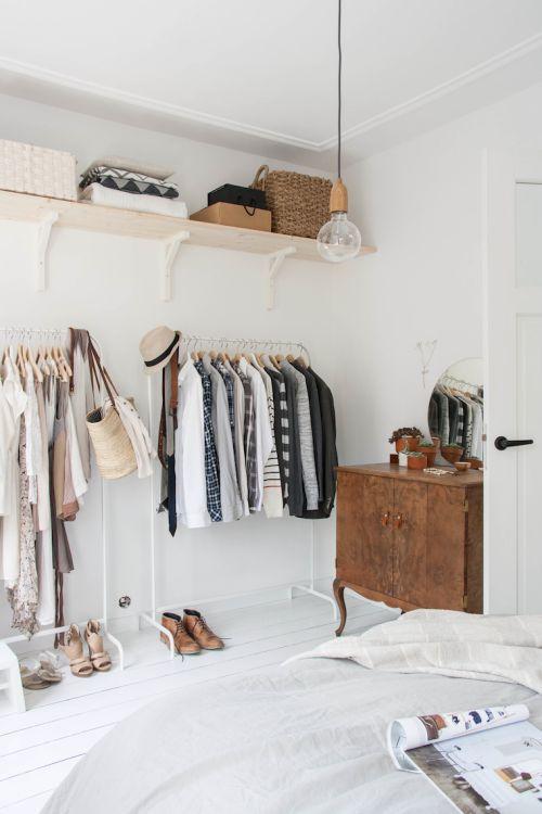 ideas para hacer un closet sin gastar diseo with vestidores sin puertas