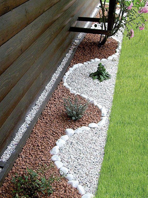 decorar tu jardinera puede ser ms sencillo de lo que pensabas slo combina algunas piedras de distintos colores y tamaos jardin piedras