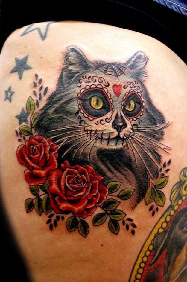 Tatuaje Dia De Los Muertos Pupa Tattoo Granada Pupa Tatto Flickr