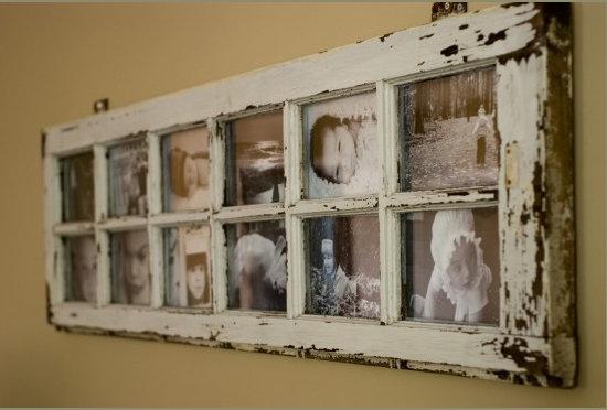ventana vieja portarretratos