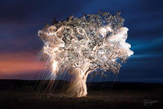Las pinturas de luz en la fotografía de Vitor Schietti