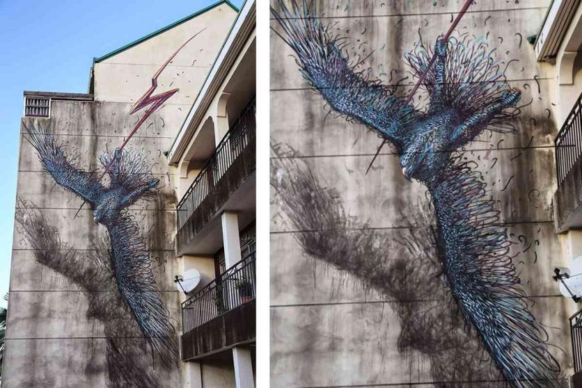 DALeast New mural Tahiti