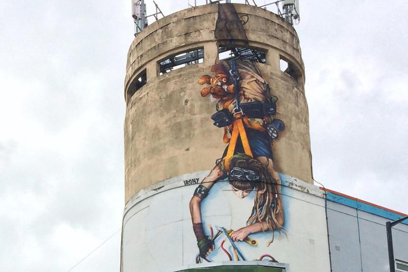 Irony mural Bristol