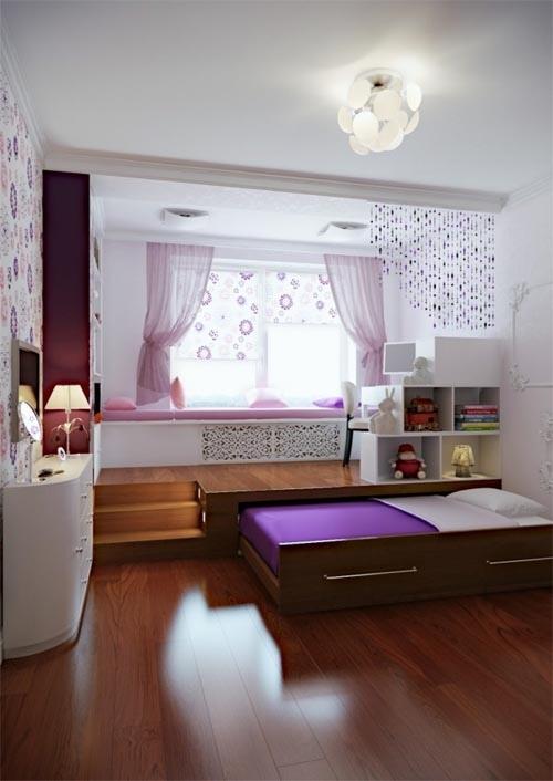 ahorra espacio con un mueble que le d una nueva plataforma a tu suelo en el que quepa tu cama y te permita meterla todos los das para tener una