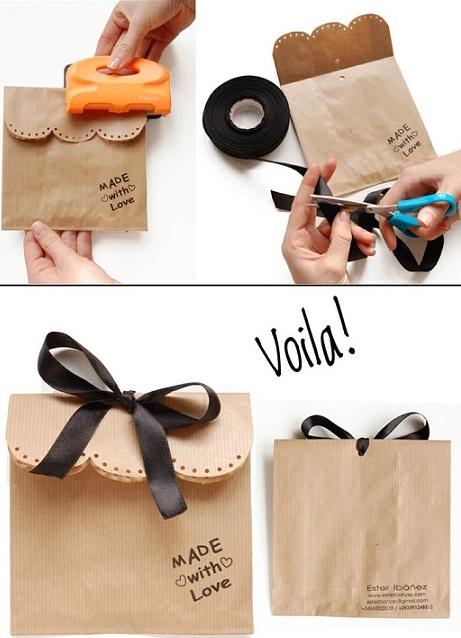 Sencillas y originales envolturas para tus regalos Diseo