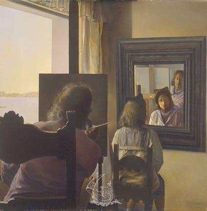 El arte a trav s de los espejos arte - Pintura para espejos ...